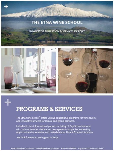 Etna Wine School Brochure